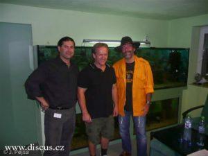 Heiko Bleher s Francescem Denittem a Jozefem Pejšou