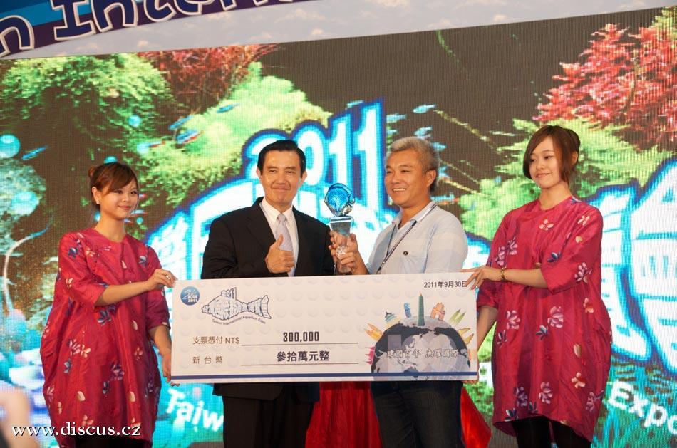 Předávání hlavní ceny prezidentem Taiwanu