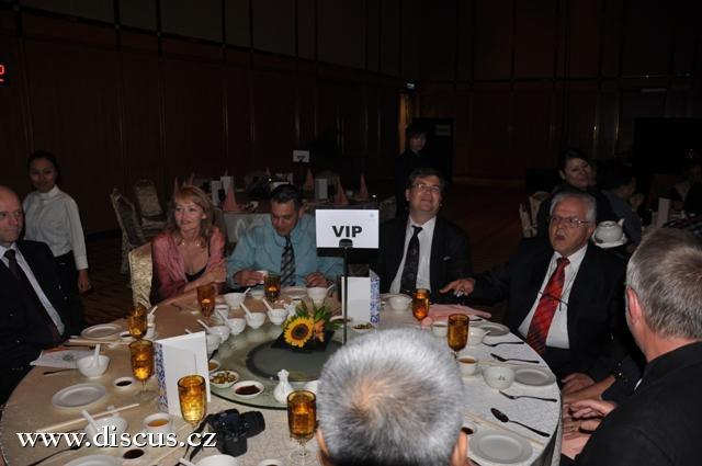 Při slavnostní recepci se zástupci malajské vlády