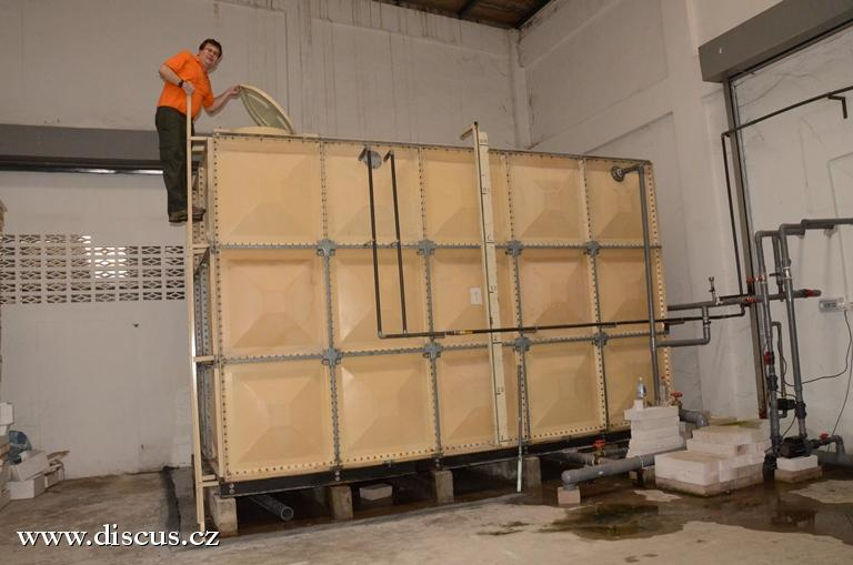 Zásobník na 80 000 litrů vody